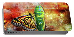 Transformed By The Truth Portable Battery Charger by Dolores Develde