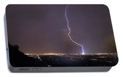 Portable Battery Charger featuring the photograph It's A Hit Transformer Lightning Strike by James BO Insogna