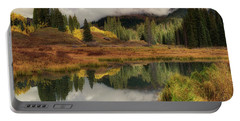 Portable Battery Charger featuring the photograph Transition by OLena Art Brand