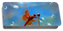 Transparent Red Dragonfly Portable Battery Charger