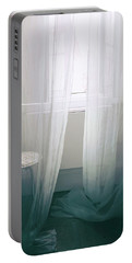 Transparent White Curtains Portable Battery Charger