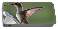 Transparent Winged Hummingbird Portable Battery Charger