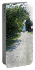 Trapp Family Lodge Rustic Road Portable Battery Charger by Felipe Adan Lerma