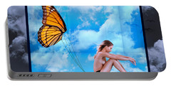 Trapped Butterfly Portable Battery Charger