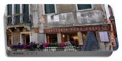 Trattoria Dona Onesta In Venice, Italy Portable Battery Charger