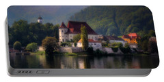 Portable Battery Charger featuring the photograph Traunkirchen - Austria by Ellen Heaverlo