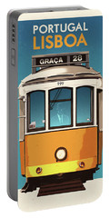 Travel Posters - Lisbon Portugal Portable Battery Charger