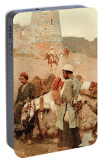 Traveling In Persia Portable Battery Charger by Edwin Lord Weeks