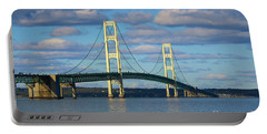 Traveling Mackinac Bridge Portable Battery Charger by Rachel Cohen