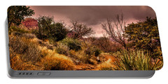 Traveling The Trail At Red Rocks Canyon Portable Battery Charger