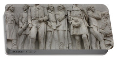 Travis And Crockett On Alamo Monument Portable Battery Charger