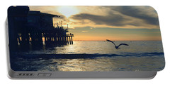 Seagull Pier Sunrise Seascape C1 Portable Battery Charger