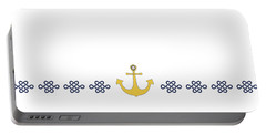 Treasure Knot With Yellow Anchor  Portable Battery Charger