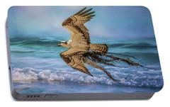 Treasures For The Nest Osprey Art Portable Battery Charger by Jai Johnson