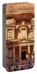 Portable Battery Charger featuring the photograph Treasury Of Petra In Color by Mae Wertz
