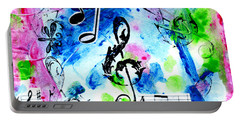 Portable Battery Charger featuring the mixed media Treble Mp by Genevieve Esson