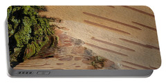 Tree Bark With Lichen Portable Battery Charger by Margaret Brooks