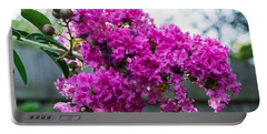 Crepe Myrtle Flower Portable Battery Charger by James Gay