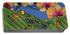 Tree Frog With Orchids Portable Battery Charger
