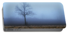 Tree In Fog 9954 Portable Battery Charger