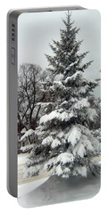Tree In Snow Portable Battery Charger