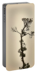 Tree In The Mist Portable Battery Charger by Rajiv Chopra