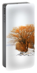Tree In The Winter Portable Battery Charger