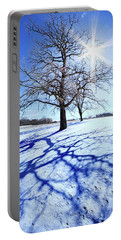 Portable Battery Charger featuring the photograph Tree Light by Phil Koch