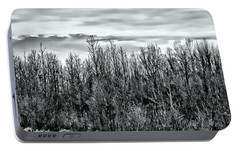Portable Battery Charger featuring the photograph Tree Line Panorama by Suzanne Stout