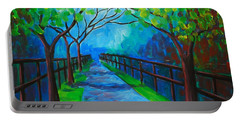Tree Lined Fence Portable Battery Charger