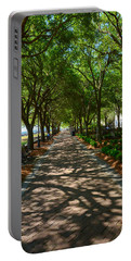 Tree Lined Path Portable Battery Charger by Debra Martz