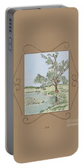 Tree Mirror In Lake Portable Battery Charger