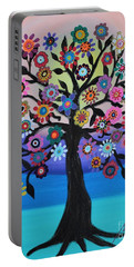 Blooming Tree Of Life Portable Battery Charger by Pristine Cartera Turkus