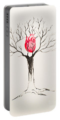 Tree Of Hearts Portable Battery Charger by Stefanie Forck