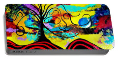 Tree Of Life Abstract Painting  Portable Battery Charger