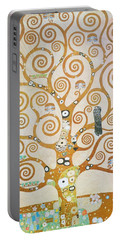 Portable Battery Charger featuring the painting Tree Of Life Detail by Gustav Klimt