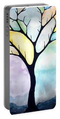 Tree Of Life Portable Battery Charger by Edwin Alverio