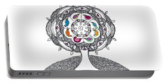 Tree Of Life - Ink Drawing Portable Battery Charger