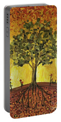 Portable Battery Charger featuring the painting Tree Of Life by Maria Langgle