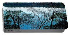 Tree Overhang Reflected In The Water Portable Battery Charger