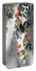 Tree Shadows And Fall Leaves Portable Battery Charger
