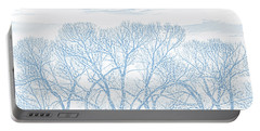 Portable Battery Charger featuring the photograph Tree Silhouette Blue by Jennie Marie Schell