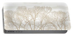 Portable Battery Charger featuring the photograph Trees Silhouette Brown by Jennie Marie Schell