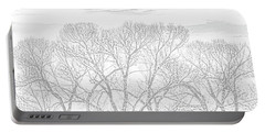 Portable Battery Charger featuring the photograph Tree Silhouette Gray by Jennie Marie Schell