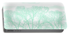 Portable Battery Charger featuring the photograph Tree Silhouette Teal by Jennie Marie Schell
