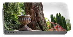 Tree Stump And Concrete Planter Portable Battery Charger