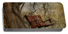 Tree Swing By The Lake Portable Battery Charger by Deborah Benoit