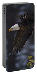 Portable Battery Charger featuring the photograph Tree Top Flight-signed by J L Woody Wooden