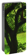 Tree Trunk Green Portable Battery Charger