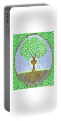Tree With Heart And Sun Portable Battery Charger